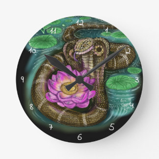 Chinese Zodiac Year of the Snake Round Clock