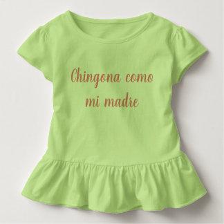 Chingona como mi madre girl kid ruffle shirt
