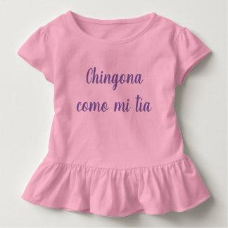 Chingona como mi tía girl kid ruffle shirt
