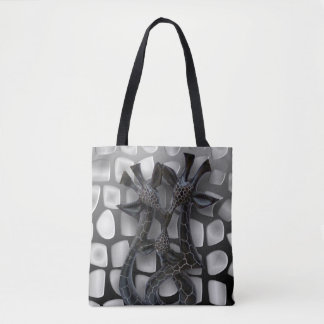 CHINODA 8 ALL OVER GIRAFFE TOTE BAG