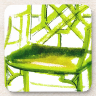chinoiserie chair for place card drink coaster