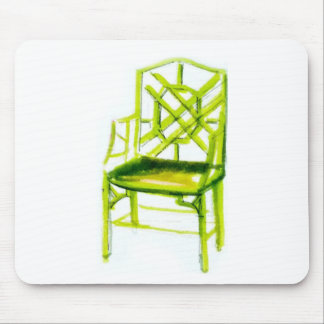 chinoiserie chair for place card mouse pad