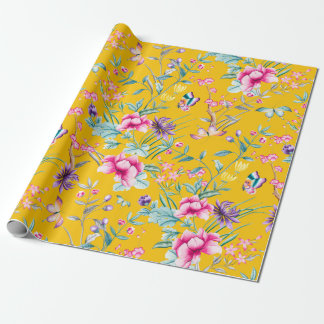 Chinoiserie Floral & Butterflies | Wrapping Paper