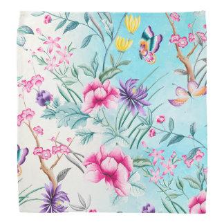 Chinoiserie Floral Pattern Bandana