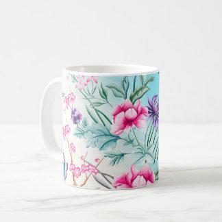Chinoiserie Floral Pattern Coffee Mug
