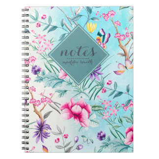 Chinoiserie Floral Pattern Notebook