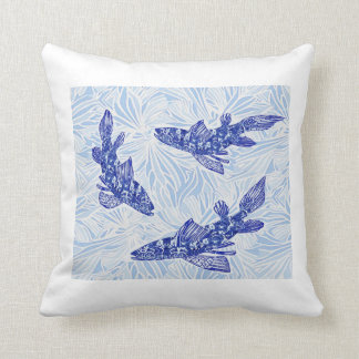 chinoiserie koi throw pillow