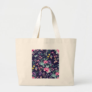 CHINOISERIE - NAVY BASE LARGE TOTE BAG