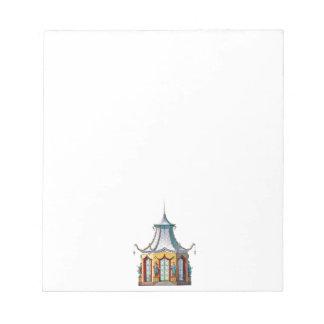 Chinoiserie Pagoda Notepad