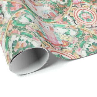 Chinoiserie Rose Medallion by Redux121DesignStudio Wrapping Paper