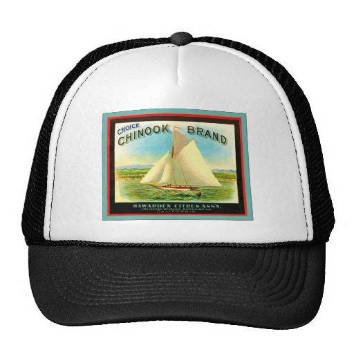 Chinook Brand Citrus ~ Vintage Fruit Crate Label Trucker Hat