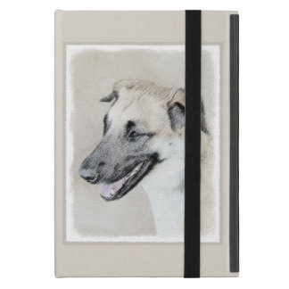 Chinook (Dropped Ears) Painting - Original Dog Art Cover For iPad Mini