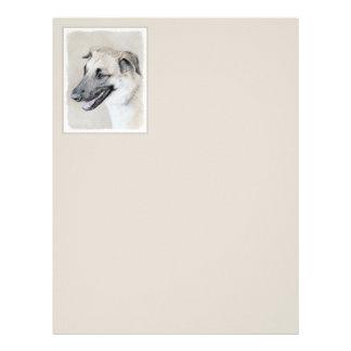 Chinook (Dropped Ears) Painting - Original Dog Art Letterhead