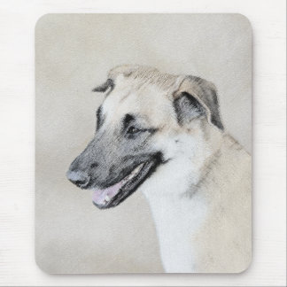 Chinook (Dropped Ears) Painting - Original Dog Art Mouse Pad