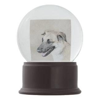 Chinook (Dropped Ears) Painting - Original Dog Art Snow Globe