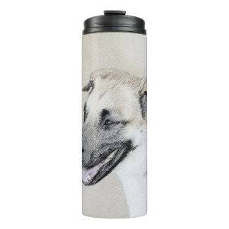 Chinook (Dropped Ears) Painting - Original Dog Art Thermal Tumbler