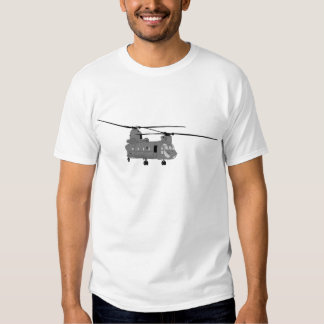 Chinook Helicopter Sihlouette Tshirt