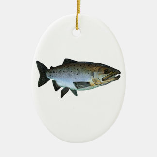 Chinook - King Salmon Ceramic Ornament