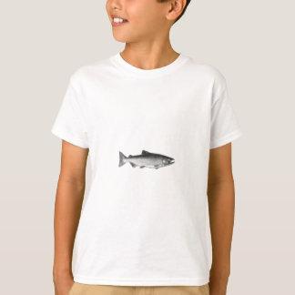 Chinook - King Salmon Logo (black and white) T-Shirt