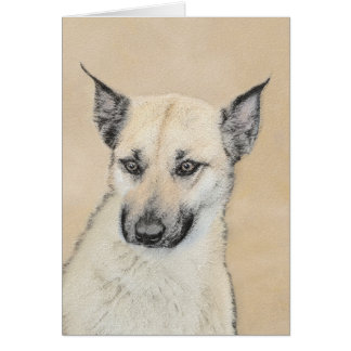 Chinook (Pointed Ears) Painting - Original Dog Art Card