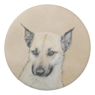 Chinook (Pointed Ears) Painting - Original Dog Art Eraser