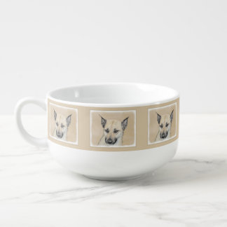 Chinook (Pointed Ears) Painting - Original Dog Art Soup Mug