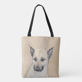 Chinook (Pointed Ears) Painting - Original Dog Art Tote Bag