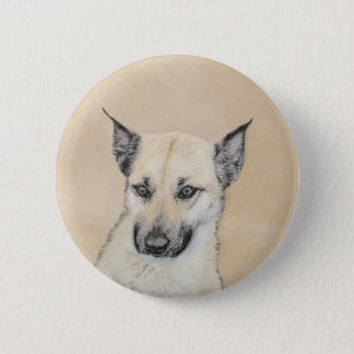 Chinook Puppy (Pointed Ears) 2 Inch Round Button