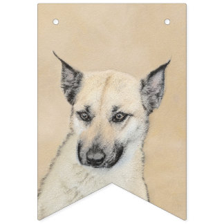 Chinook Puppy (Pointed Ears) Bunting Flags