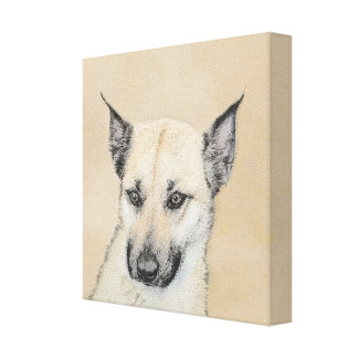 Chinook Puppy (Pointed Ears) Canvas Print