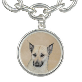 Chinook Puppy (Pointed Ears) Charm Bracelets