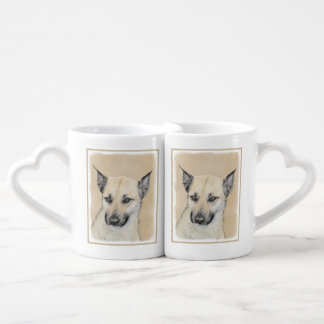 Chinook Puppy (Pointed Ears) Coffee Mug Set