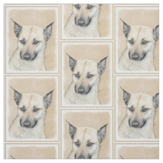 Chinook Puppy (Pointed Ears) Fabric