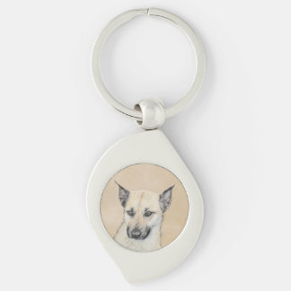Chinook Puppy (Pointed Ears) Keychain