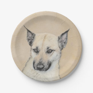 Chinook Puppy (Pointed Ears) Paper Plate