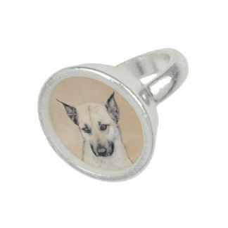 Chinook Puppy (Pointed Ears) Photo Ring