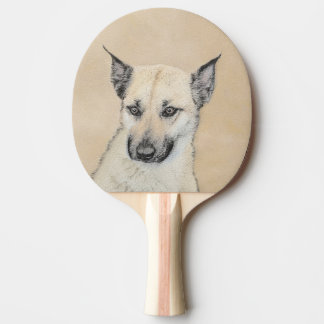 Chinook Puppy (Pointed Ears) Ping Pong Paddle