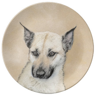 Chinook Puppy (Pointed Ears) Plate