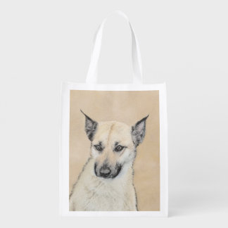 Chinook Puppy (Pointed Ears) Reusable Grocery Bag