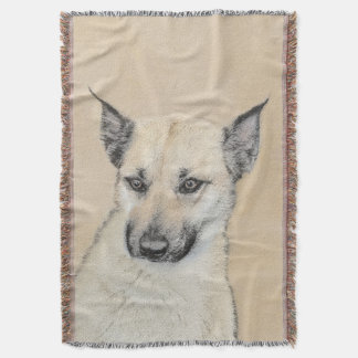 Chinook Puppy (Pointed Ears) Throw Blanket