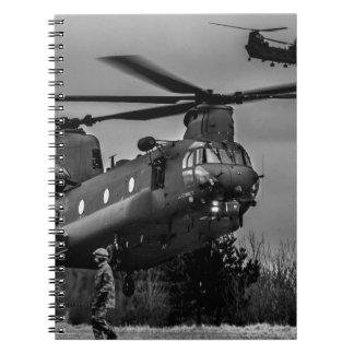 Chinook refuelling notebooks