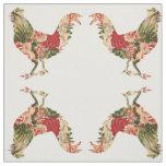 Chintz Chicken Combed Cotton Fabric