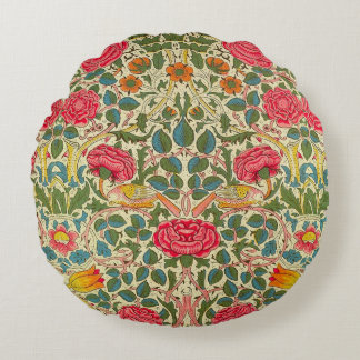 Chintz Vintage Floral Pattern Round Pillow