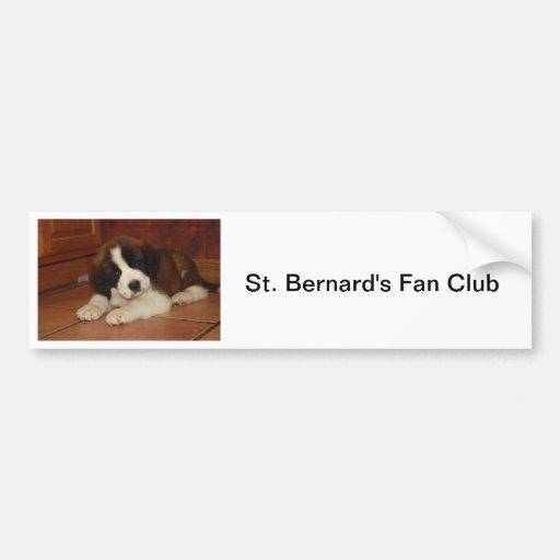 Chiot adorable et doux de St Bernard Autocollants Pour Voiture