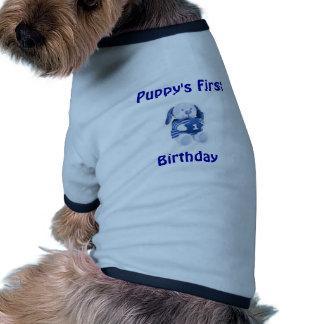 Chiot premier, T-shirt d'anniversaire (garçons) #2 T-shirt Pour Animal Domestique