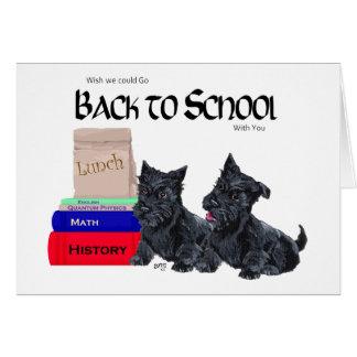 Chiots de Scottie de nouveau à l école Cartes De Vœux