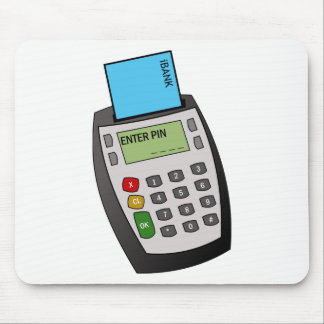 Chip and Pin Machine Mouse Pad