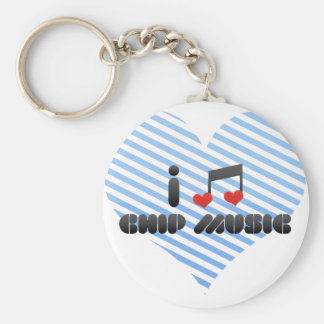 Chip Music fan Keychain