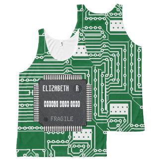 Chip On Printed Circuit Board With Your Name All-Over-Print Tank Top