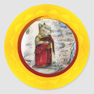 CHIP THE MONK CLASSIC ROUND STICKER